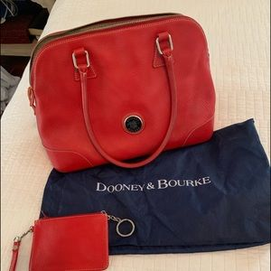 Dooney and Burke red leather bag